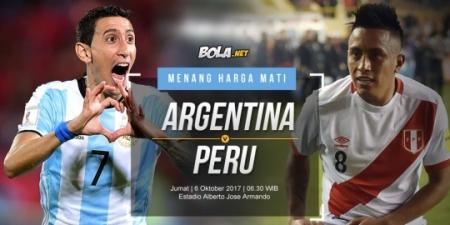 Prediksi Argentina vs Peru 6 Oktober 2017